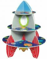 Blast Off Bday Rocket Treat Stand