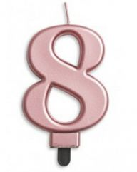 #7 Metallic Rose Gold Numeral Candle