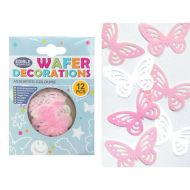 Wafer Lacey Butterflies