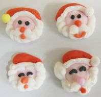 Small Sugar Assorted Santa Heads