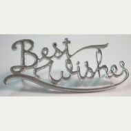 Best Wishes Sign Silver