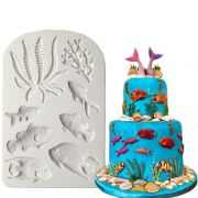 Seaweed and Fish Silicone Mould