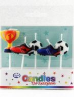 Soccerball Boots and Trophy Candles On Picks