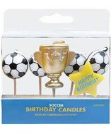Soccer Ball Candle Picks