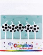 Soccerball Candles On Picks