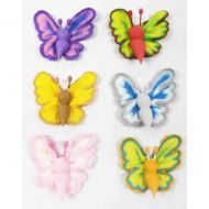 Assorted Butterflies Sugar Decs