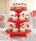 3 Tier Treat Stand Red