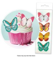 Mixed Wafer Butterflies Pkt16